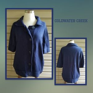 Coldwater Creek Navy button down sweater